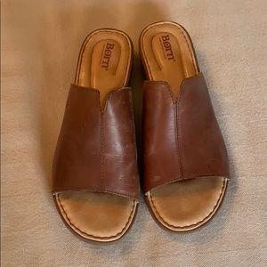Born Bernt Women's Wedge Sandals Size 9